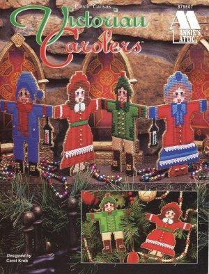 Victorian Carolers Christmas Ornaments Pattern Plastic Canvas