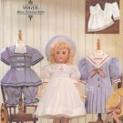 "Heirloom  Clothes Pattern for 18"" (45.7cm) Dolls Vogue 7244 (709) NEW"