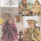 "Heirloom  Party Dress Pattern for 18"" (45.7cm) Dolls Vogue 9965 (659)  NEW"