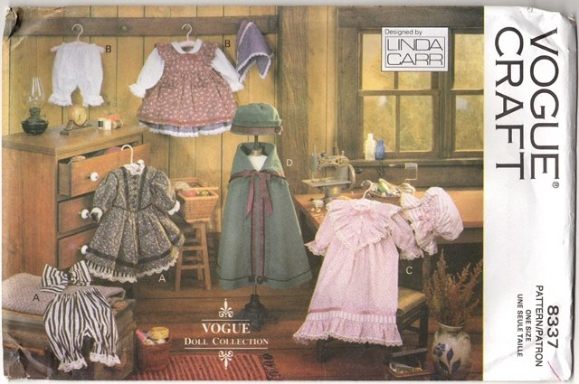Early American Doll Clothes Pattern 18� (45.7cm)  Vogue 8337  NEW