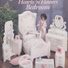 Barbie, Fashion Doll Hearts n Flowers Bedroom, Plastic Canvas Pattern Book 3140