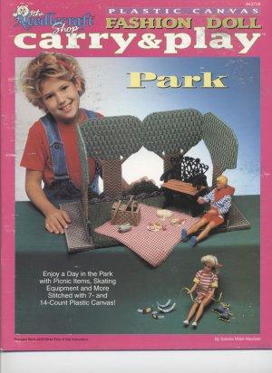 Barbie Fashion Doll Carry & Play Park Plastic Canvas