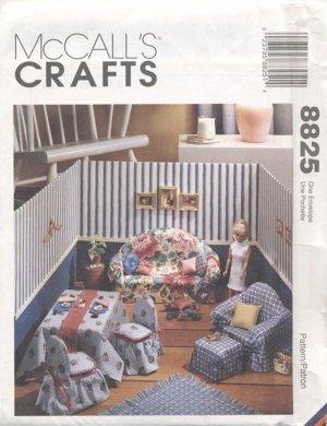 Barbie, Fashion Doll Sewn Living Room Diorama, Mc Call's Craft 8825 NEW