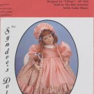 "Amy dress pattern for 33"" porcelain doll, Syndee's Dolls, 171 NEW"