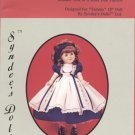 "Tammy dress pattern for 18"" porcelain doll, Syndee's Dolls, 148 NEW"
