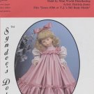 "Tasha dress pattern for 24"" porcelain doll, Syndee's Dolls, 168 NEW"