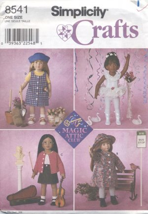 Magic Attic 18� (45.5 cm) Doll Outfits, Simplicity Crafts 8541