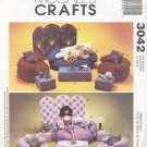 "Barbie 11 ½"" Fashion doll Bean Bag Furniture, McCall's Crafts 3042 NEW"
