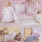 "Bedding Sets for 18"" Dolls, Butterick 5730 NEW"