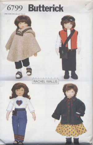 Sew Doll Clothes for 23� Soft Doll Butterick 6799 NEW