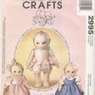 "Kewpie Soft Doll and Clothes, 14"" doll McCall's Craft 2995 NEW"