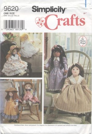 Soft Doll Pattern for 25� (63.5 cm) Dolls Simplicity Crafts 9620 NEW