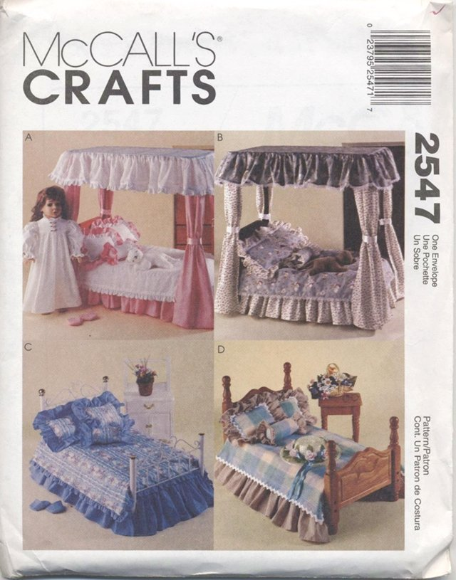 Bedroom Sets for Magic Attic, American Girl Doll 18� (45.7 cm) Dolls McCall�s Crafts 2547 NEW