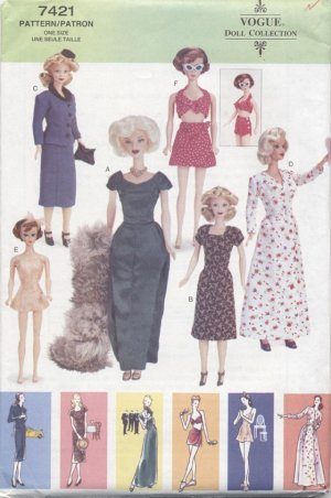 Barbie 11 ½� Fashion Doll Retro 1945 Style, Vogue Doll Collection 7421 NEW