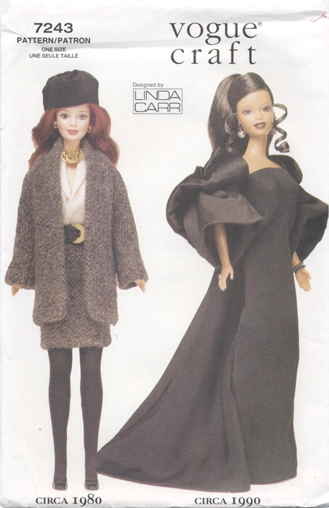 Barbie 11 ½� Fashion Doll 20th Century Outfits Vogue Craft 7243 NEW