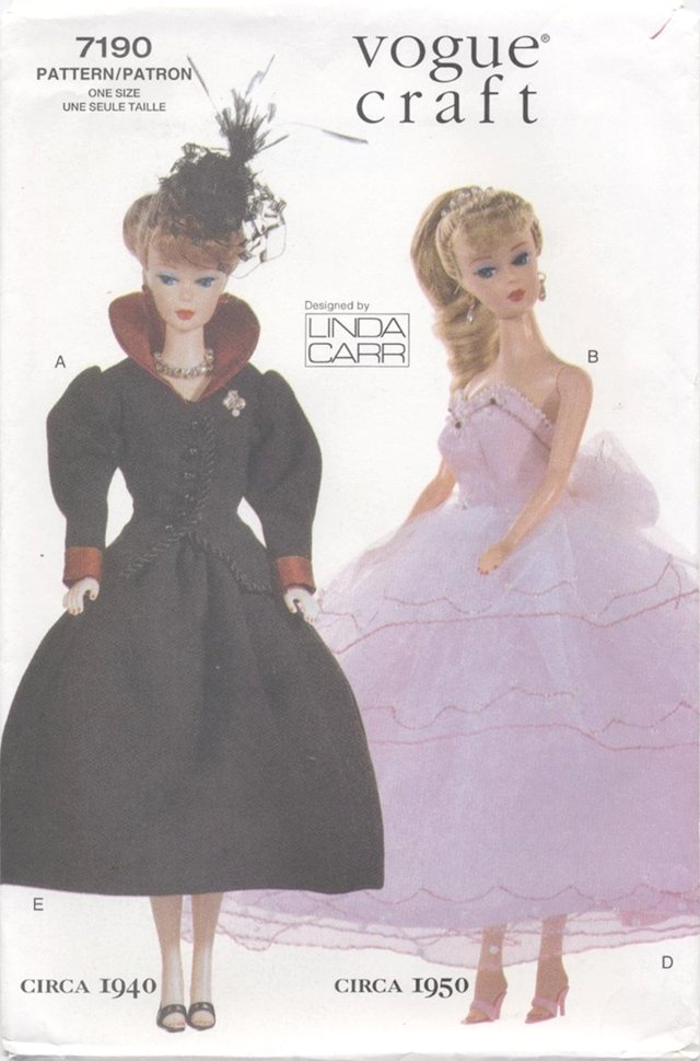 Barbie 11 ½� Fashion Doll 20th Century Outfits Vogue Craft 7190 NEW