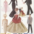 "Barbie and Ken 11 ½"" Fashion Doll Retro 60's Evening Gowns Vogue Craft 9894 NEW"