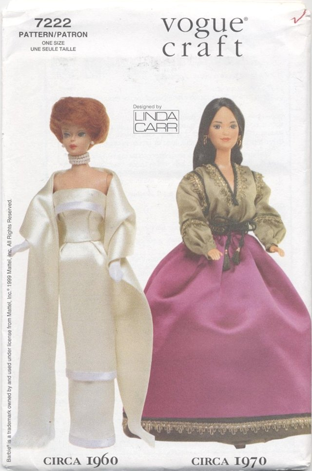 Barbie 11 ½� Fashion Doll 1960 and 1970 Fashions Vogue Craft 7222 NEW