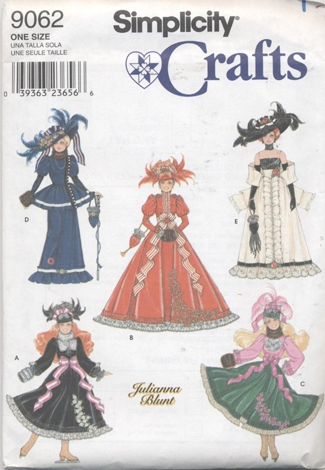 Barbie 11 ½� Fashion Doll Gay 90's Fashions Simplicity Crafts 9062 NEW