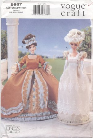 Barbie 11 ½� Fashion Doll 1700�s Gowns Vogue Craft 9867 NEW