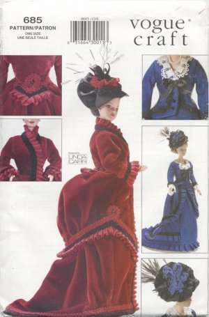 Barbie 11 ½� Fashion Doll 1870�s Bustled Gowns Vogue Crafts 685 NEW
