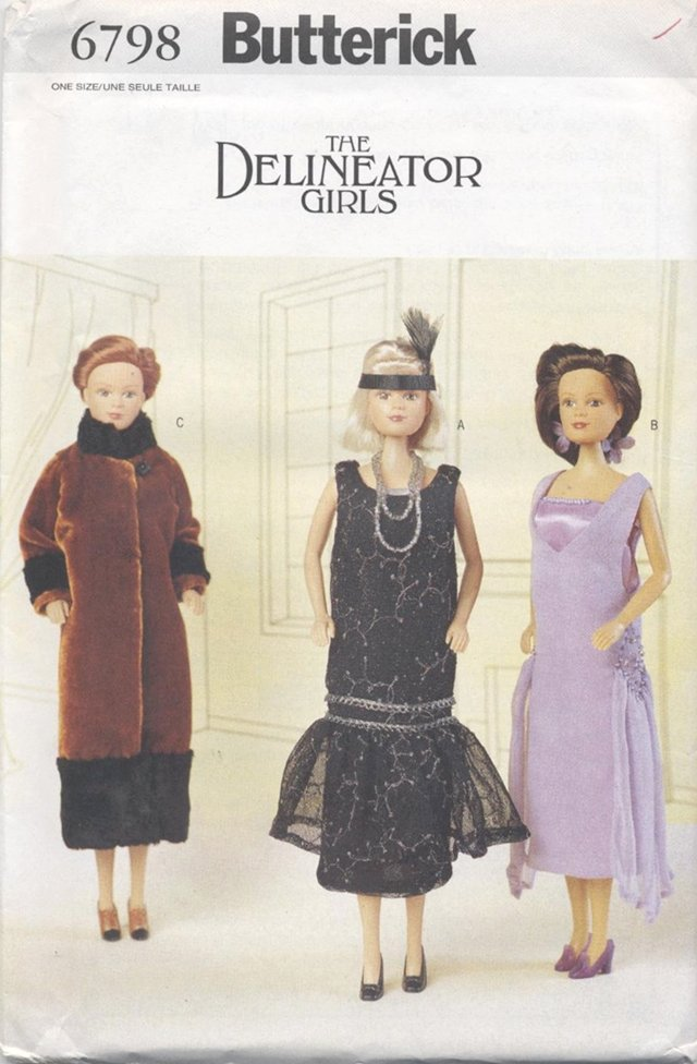 Barbie 11 ½� Fashion Doll The Delineator Girls 1920�s Gowns Butterick 6798 NEW
