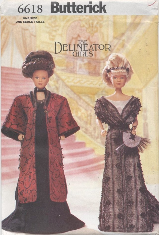 Barbie 11 ½� Fashion Doll The Delineator Girls Early 1900�s Styled Gowns Butterick 6618 NEW