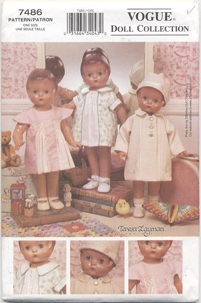 Vintage-styled 1930�s Wardrobe, 18� Patsy Ann or Gotz Type Dolls Vogue Doll Collection 7486 NEW