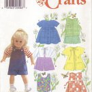 "Little Girl Play Outfits, 18"" American Girl Type Dolls Simplicity Crafts 7688 NEW"