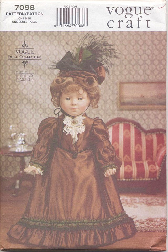 Historical Bustled Gown 1880�s Style for 18� American Girl Type Dolls Vogue Craft 7098 NEW