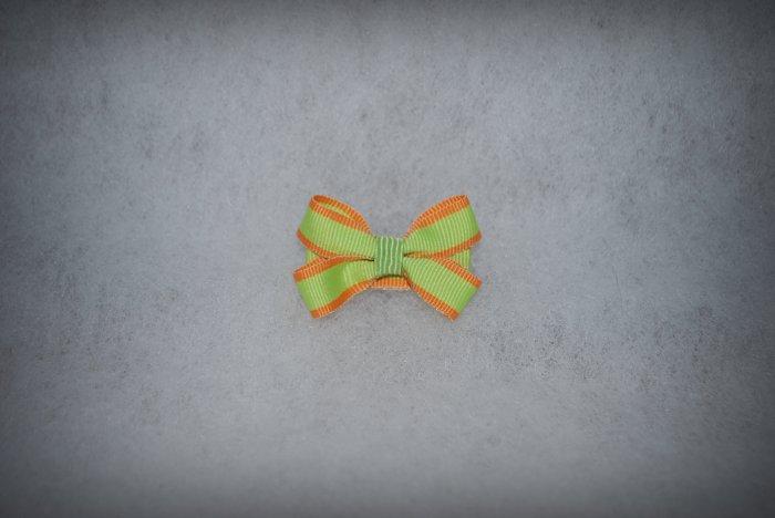 Kiwi & Orange Itty Bitty Bow