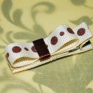 Ivory & Chocolate Mini Bow
