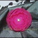 Hot Pink Organza Singed Flower