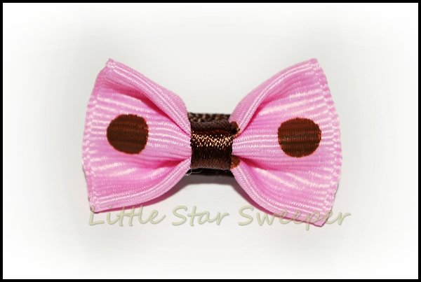 Chocolate & Pink Baby Bow Set