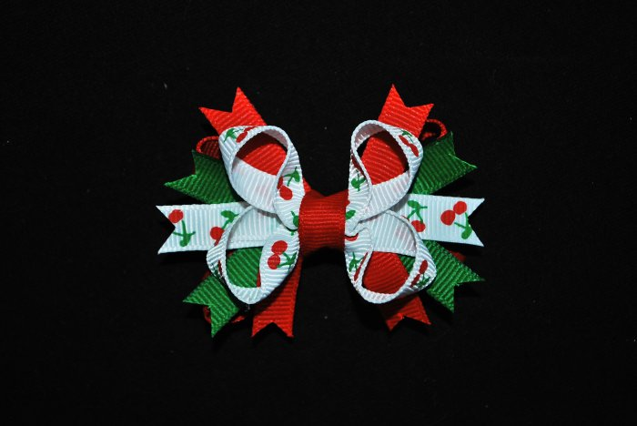 Cherry Bitty Stacked Bow
