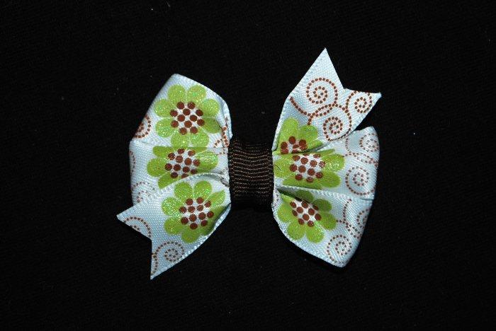 Green & Brown Flower Pinwheel