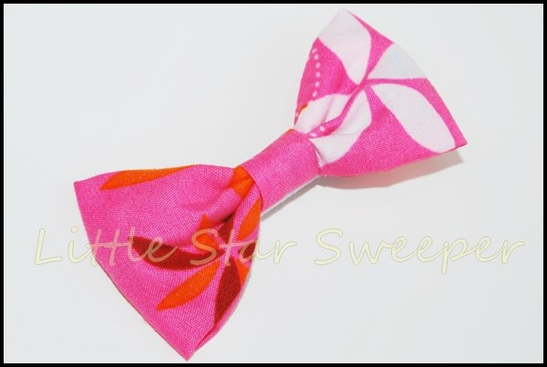 Tropical Punch Fabric Bow