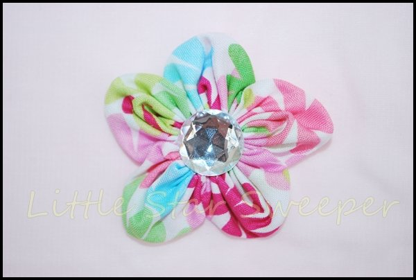 Watercolor Fabric Flower
