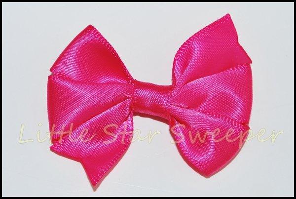 Hot Pink Satin Pinwheel Bow