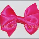 Hot Pink Satin Pinwheel Bow