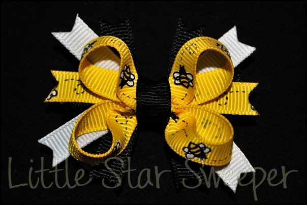 Bumble Bee Bitty Stacked Bow