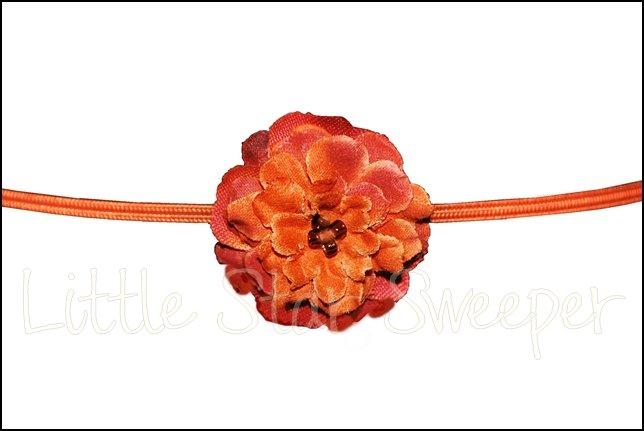 Tiny Rose Skinny Headband - Auburn