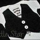 Little Gentleman Vest/Tie Onesie - Mr. Holland