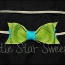 Mini Dior Bow Skinny Headband - Lagoon