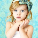 The Lush Bowband in Blue Viridian - Oversized Rosette Bow Headband Couture, Popular Photo Prop