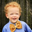 The Lush Bowband in Golden Yellow Gold -  Rosette Headband Photo Prop - Bow Tie for Girl or Boy