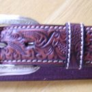 Made 4 Jeans! Black/Brown Tooled Leather Belt (Unisex)