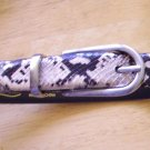 Genuine Snake Skin Belt - Black & White  Sz. S-M  Nice
