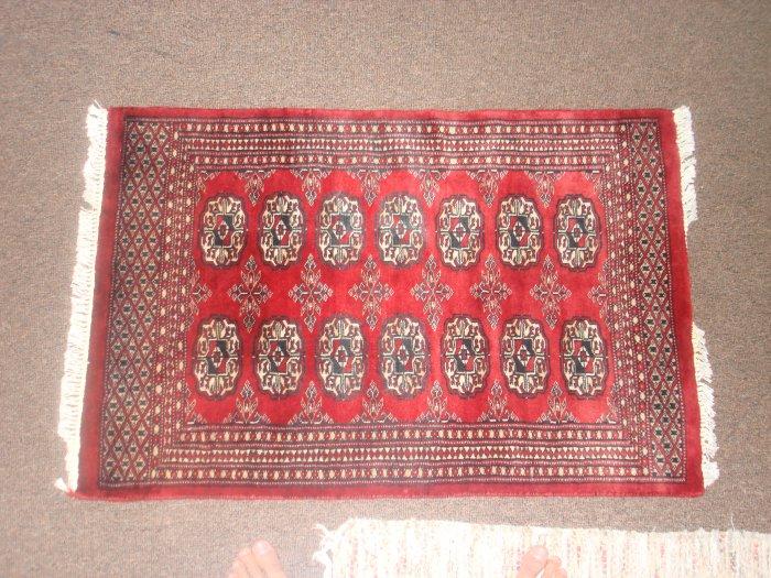 Pretty!! Handwoven Bokharan Persian rug