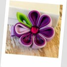 Purple Wild Berry Kanzashi Bloom Hair Clip